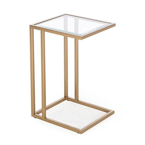 Hongsezhuozi Tische Tee Tisch Couchtisch Eisen Glas Kleine Quadratische Tabelle Einfache Moderne Abnehmbare Wohnzimmer Beistelltisch Sofa Ecktisch Lazy Bedside Lesetisch Freizeit Tisch