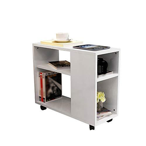 XIAOLVSHANGHANG CJ Auf Rädern beweglicher Kleiner Kaffeetisch einfaches Sofa-Beistelltisch-Seitenschrank-Nachttisch-Wohnzimmer-Tee-Tabellen-kleine Tabelle