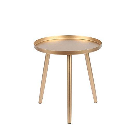 XIAOLVSHANGHANG CJ Metall Couchtisch Modernes Wohnzimmer Sofa Beistelltisch Kleiner Esstisch Schlafzimmer Nachttisch Farbe  Gold größe  36  36  38cm