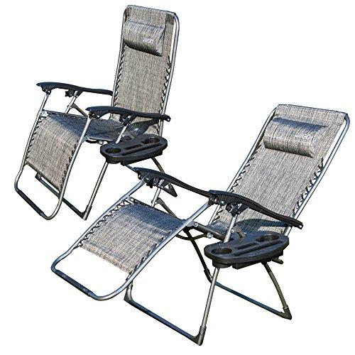 2-er SET Liegestühle Klappstuhl Klappsessel Camping Stuhl  Super bequeme Stühle Sessel
