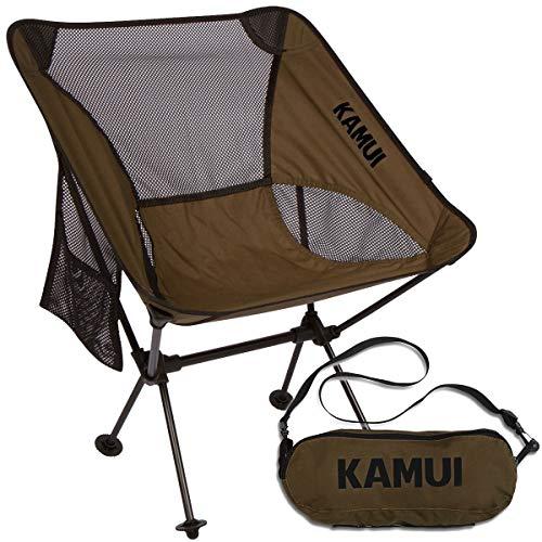 Kamui Tragbarer Campingstuhl mit Seitentasche Tragegurt Ultraleicht kompakt faltbar