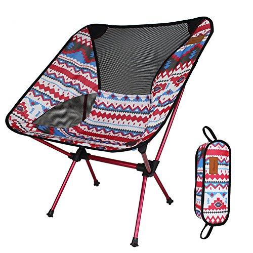 NORDSD Camping Stuhl Klein Leicht Stabile Faltstuhl Perfekt für StrandCamping Rot
