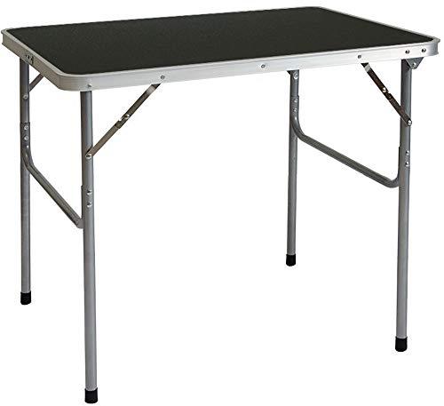 AMANKA klappbarer Campingtisch 80x60x70 cm Leichtgewicht Klapptisch Reisetisch im Kofferformat Dunkel Grau