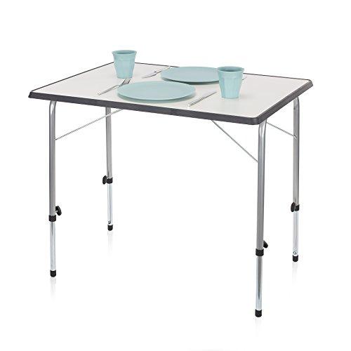 Campart Campingtisch Reisetisch - 80 x 60 cm wetterbeständige Rolltischfläche höhenverstellbar einfach auf- und zusammenklappbar TA-0831
