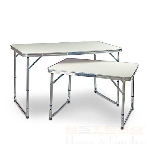 ESTEXO Aluminium Campingtisch Klapptisch Gartentisch Picknicktisch Koffertisch Tisch 60 x 110 cm
