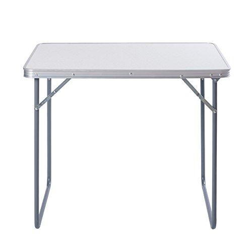ZNL Aluminium Klapptisch Campingtisch Koffertisch Falttisch Gartentisch Campingmöbel Klappbar 60 x 80 x 70cm AFT-01