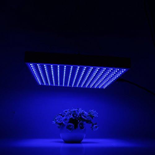 32W LED Pflanzenleuchte Pflanzenlampe Pflanzenlicht Zimmerpflanzen Wachstumslampe grow lampe 225 LEDs Rot&Blau für Zimmerpflanzen Blumen und Gemüse tageslicht Energieklasse ABlau