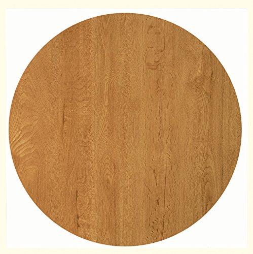 Werzalit Tischplatte Dekor Eiche 70 cm rund wetterfest Ersatztischplatte Bistrotisch Stehtisch Tisch Gastronomie