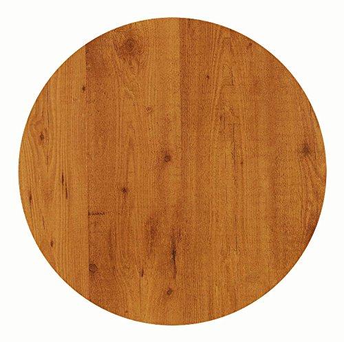 Werzalit Tischplatte Dekor Pinie 90 cm rund wetterfest Ersatztischplatte Bistrotisch Stehtisch Tisch Gastronomie