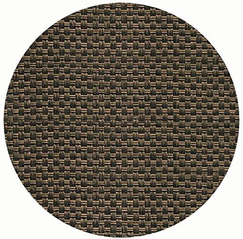 Werzalit Tischplatte Dekor Rattan Mocca 70 cm rund wetterfest Ersatztischplatte Bistrotisch Stehtisch Tisch Gastronomie
