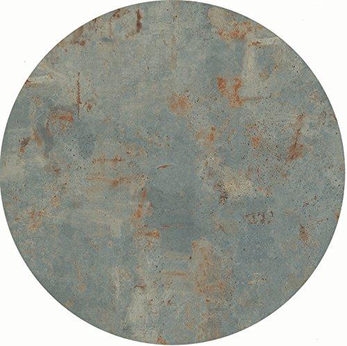 Werzalit Tischplatte Dekor Rostsilber 60 cm rund wetterfest Ersatztischplatte Bistrotisch Stehtisch Tisch Gastronomie