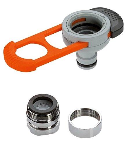 GARDENA Adapter für Indoor-Wasserhähne Praktischer Adapter zum Anschluss des GARDENA Systems an einen Wasserhahn mit M 22 x 1 Außen- und M 24 x 1 Innengewinde 8187-20