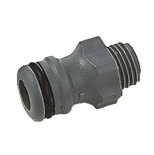 GARDENA Anschlusstück Steckkupplung zum Anschluss von Bewässerungsgeräten an das Original GARDENA System für 132 mm G14 Gewinde grau 2920-26