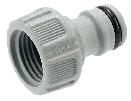 GARDENA Hahnverbinder 21 mm G 12 Anschluss für Wasserhähne mit Gewinde wasserdichte Schlauchverbindung einfache Handhabung 18200-50