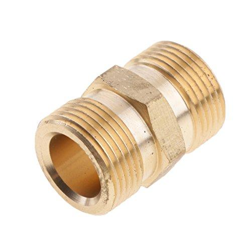Sharplace Hochdruckreiniger Kupplung Stecknippel Schnellkupplung Schlauchanschluss Stecker Adapter StecktuellenSchlauchtuelle Schlauchanschluss Male M22x15 Socket Kupplung - 15 mm
