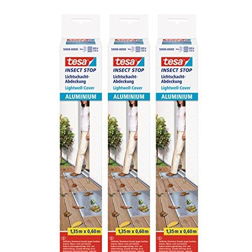 3 x tesa Insect Stop Alu Lichtschacht-Abdeckung 135m x 60cm