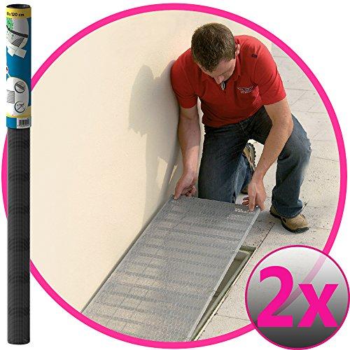Easy Life 2er Set Aluminium Gitter 60 x 120 cm greenLINE Aktion für Lichtschächte Lichtschachtabdeckung Alu-Gewebe Kellerschachtabdeckung