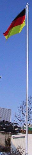 normani Fahnenmast ALU Bodenhülse Seilzug Obere Abdeckung Größe 62 Meter