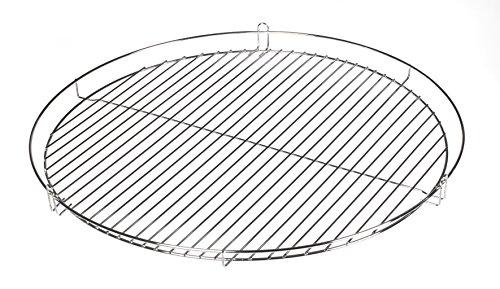 50cm Chrom Grillrost Grill Rost Grillgitter rund von HeRo24 R