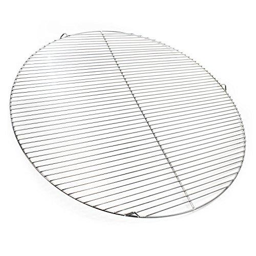 Wiltec Edelstahl Grillrost rund 80 cm rostfrei für Holzkohlegrill Gasgrill Schwenkgrill