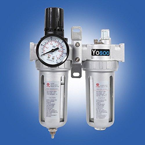 14 Druckluft Wasserabscheider Öler Druckminderer Druckregler für kompressor wartungseinheit