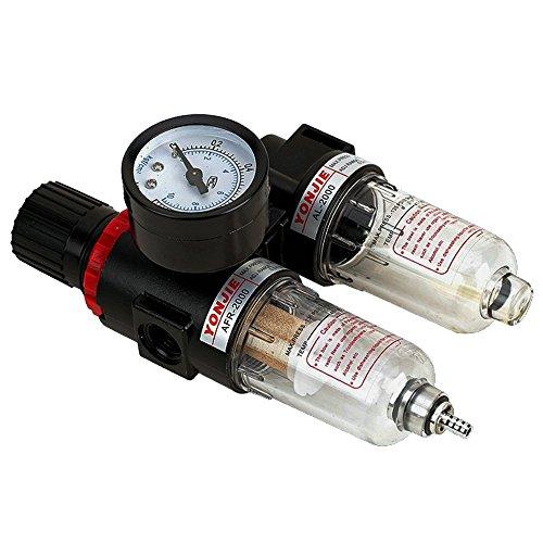 Druckminderer mit Manometer Wartungseinheit14 Druckluft Wasserabscheider Druckminderer für Kompressor druckregler Pneumatische Komponenten Regulator Filter Gas-Prozessor