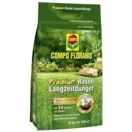COMPO Floranid Premium Rasen-Langzeitdünger 10 kg Volldünger Langzeitdünger