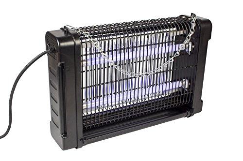 Eurosell 16W Premium Insekten Abwehr - Profi Insektenvernichter - Mosquito Stopp Stechmücken Mücken Fliegen Lichtfalle Licht Falle UV-A UVA mit Schalter  Auffangbehälter  Kette zum aufhängen