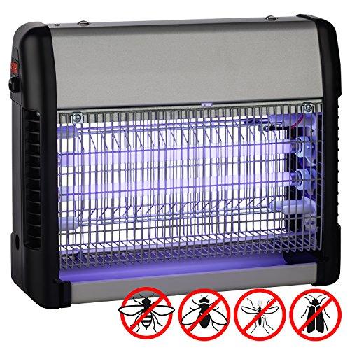 Insektenfalle elektrisch UV-Licht 23W  Räume bis 100m²  Insektenvernichter  Wandmontage - Freistehend - Hängend herausnehmbarem Fach  gegen Mücken Fliegen Motten andere fliegende Insekten