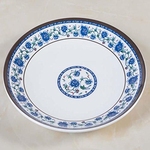 Kaxima Melamin Chinesisch blau und weiß Porzellan Gericht Gericht Teller Platte Platte Platte Platte 2 Stück 3030cm