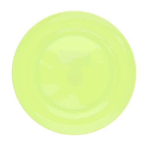 P Prettyia Kunststoff-Teller Rund Teller Speise-Teller Plastik-Teller für Outdoor Camping - Grün M