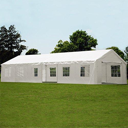 Deuba Partyzelt 6x12m Pavillon Festzelt Carport Bierzelt Gartenzelt Familienzelt Zelt  12 Rundbogenfenster  72m²  Modellauswahl