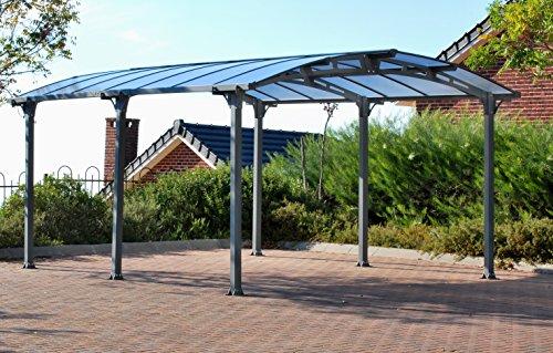Palram Arcadia 5000 Carport robuste Struktur für ganzjährige Nutzung grau