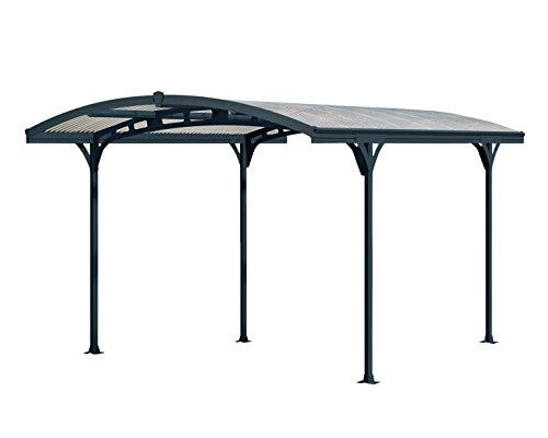 Palram Atlas 5000 Carport Autoüberdachung robuste Struktur für ganzjährige Nutzung GrauBronzefarben