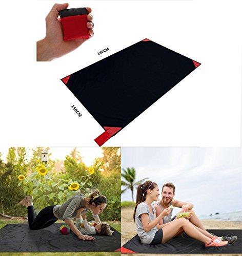 Roter Kristall Pocket Picknickdecke Ultraleichte Stranddecke Campingdecke und Outdoor Strand Decke Tragbar Den Außenbereich 150180cmL Rot