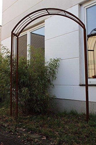 Garten Rosenbogen Rost aus edelrost Metall Gartendeko Garten Rankhilfe Spalier Rost Rosenranke 031787-1 13030220cm