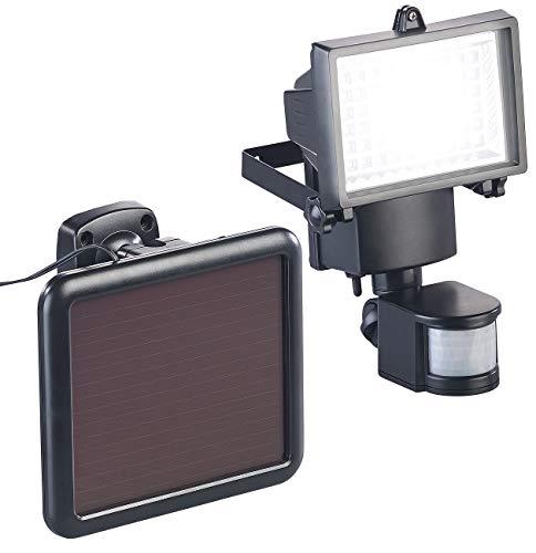 Luminea Solar Außenleuchte Solar-LED-Wand-Fluter für außen mit PIR-Sensor 12 W 750 Lumen IP44 Solarspot mit Bewegungsmelder