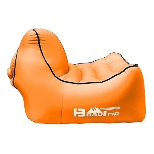 07 kg Aufblasbarer Schlafsofa tragbar Schnell Außen aufblasbares Air SofaBettBootliege für Outdoor Wandern Lounge Strand und Garten Freizeit Schlafsäcke Camping Bett Aufblasbare Strandliegen
