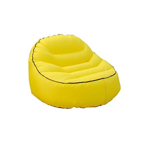 JIE KE Sofa Aufblasbare Outdoor Freizeit Couch Einzelsitz Portable Schlafsack Bequemes Sofa Farbe  Gelb