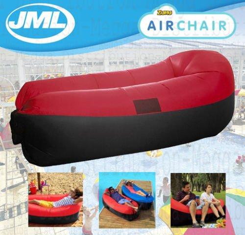 JML Air Stuhl Outdoor Garden Beach aufblasbar Aufblasen Sofa Air Bett Rot