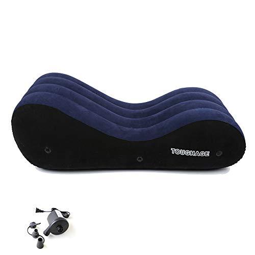 Missgama Aufblasbares Sofa- Sěx-Bettsofa mit elektrischer Pumpe Handschellen Beinfesseln Yoga-Liegestuhl Relax-Sessel Chaise Lounge-Air-Sofa Tragbare aufblasbare Sexmöbel-Liege für Paare Sěx Positio