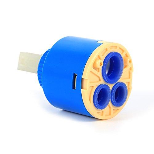 GLOGLOW 3540mm Praktische keramische Patronenscheibe Ventil Wasserhahn Heiß und kalt Filter Wasser Mischbatterie Innenregler40mm