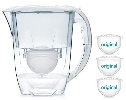 Aqua Optima 6-Monate-Packung – Oria Tischwasserfilter mit 3 x 60-Tage-Wasserfilterkartuschen