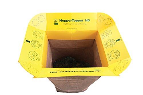 hoppertopper HD htopp001 Kunststoff Rasen- und Blätter-Tasche Trichter