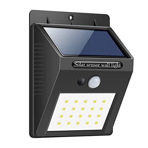 Weibu Outdoor Solar Sicherheit An Der Wand Montiert 20 LED Nachtlichter Wasserdicht IPX7 Wireless Für Garten Bright Motion Sensor Auto AnAus Wandleuchten Weg Treppen Garten Licht1Pieces