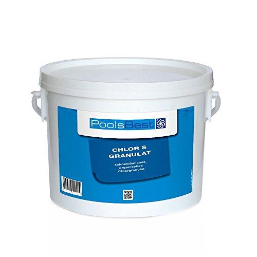 3 Kg - PoolsBest Chlorgranulat S schnelllöslich 56 Aktivchlor organisch