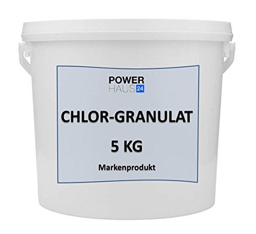 Chlorgranulat 5 KG Markenqualität von namhaften Herstellern POWERHAUS24 Schnellchlor Granulat schnelllösliches Chor