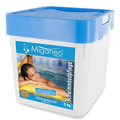 Miganeo 5 kg Chlorgranulat schnelllöslich 56 Aktivchlor organisch für Schock ChlorungPool 5kg