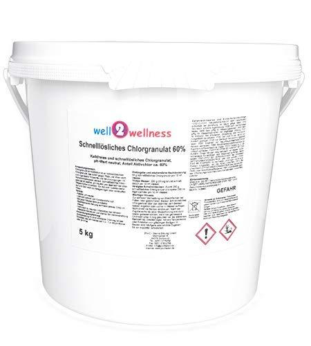 well2wellness Pool Chlor Granulat schnelllöslich mit 60 Aktivchlor 50 kg
