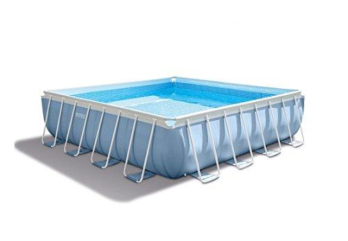 Intex 28764 PRISM Frame Pool Komplett-Set mit GS-Pumpe 427x427x107cm